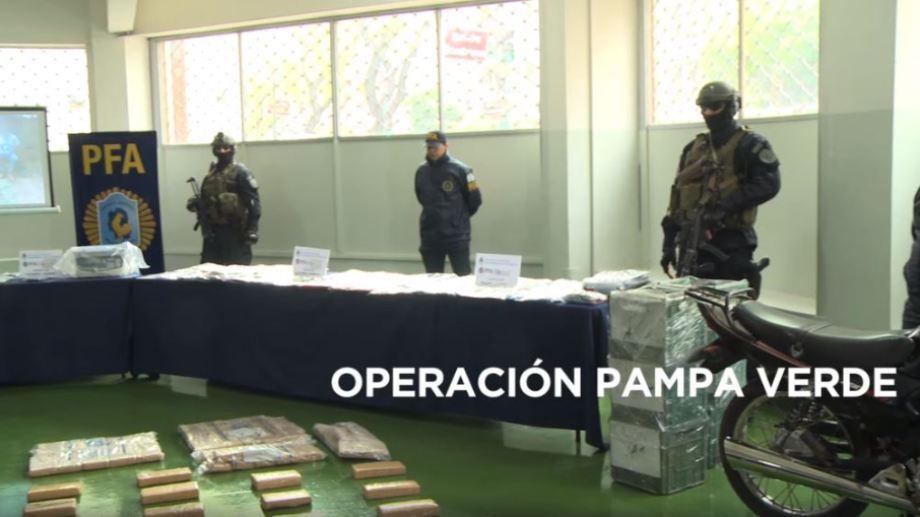 """Durante el desarrollo de la investigación, se realizaron diversos procedimientos, entre ellos el denominado operativo """"Pampa Verde"""" en General Pico. Foto: Captura imágenes Policía Federal."""