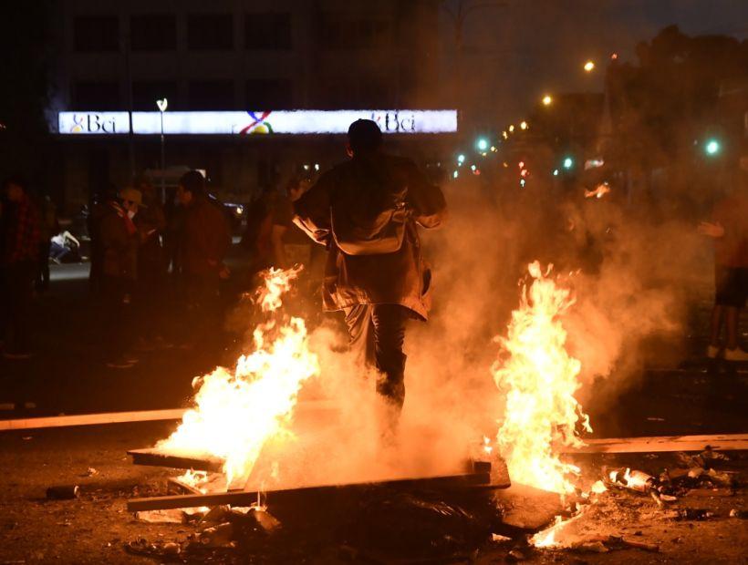 Noche de furia en Osorno en el cuarto paro general de Chile - Diario Río Negro