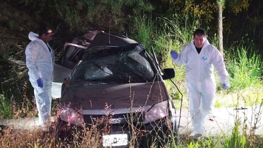 El hombre perdió el control de la Ford EcoSport que conducía, chocó contra una columna y murió. (Gentileza Realidad Sanmartinense).-