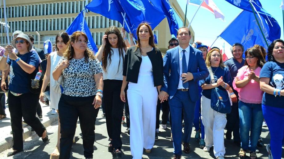 Una caminata militante fue parte de los festejos cuando Gutiérrez asumió en diciembre de 2015. Foto: archivo.
