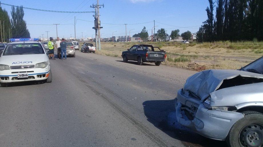 Cipolletti: Choque en cadena en Ruta 65. (Foto: Miguel Ángel Parra)