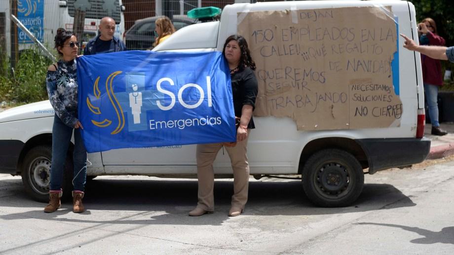 Los trabajadores del sanatorio Del Sol llevan meses sin cobrar y se les adeudan los aguinaldos desde junio de 2018. Foto: Alfredo Leiva