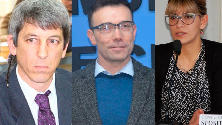 Chiocconi, Altamiranda y Spósito, los tres rionegrinos que completaron la lista del FpV en 2017.