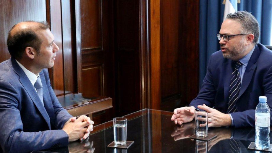 Omar Gutiérrez se reunió con el ministro de Producción Matías Kulfas. Foto Neuquén Informa
