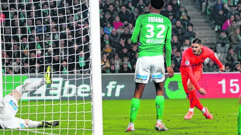 Mauro anotó en la goleada 4-0 ante el Saint-Etienne.
