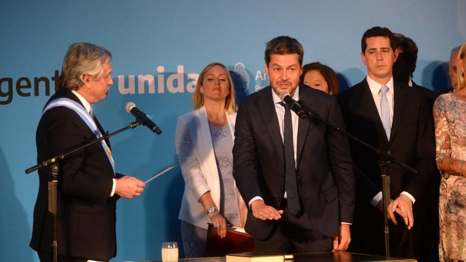 El excandidato a jefe de Gobierno porteño, Matías Lammens, juró la semana pasada como ministro de Turismo de la Nación. Foto: gentileza