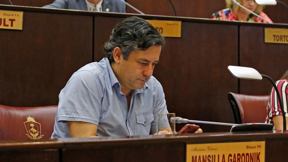 Mansilla es un histórico opositor del MPN, pero tendrá aval para ocupar la línea sucesoria. Foto: archivo.