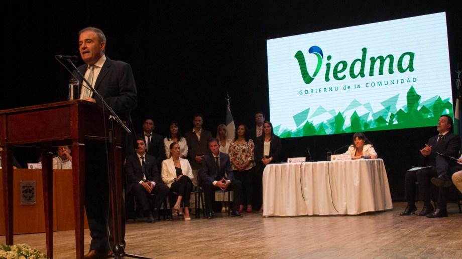 El discurso apuntó contra la basura, pensando en una ciudad limpia. Foto Pablo Leguizamon