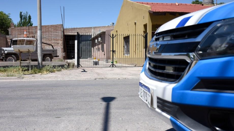 El allanamiento se realizó en un domicilio de Barrio Nuevo, sobre la calle Misiones al 800. (Foto: Florencia Salto.-)