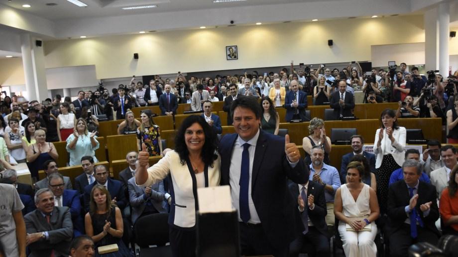 Gaido juró ayer en el Concejo Deliberante de Neuquén. Foto: Florencia Salto