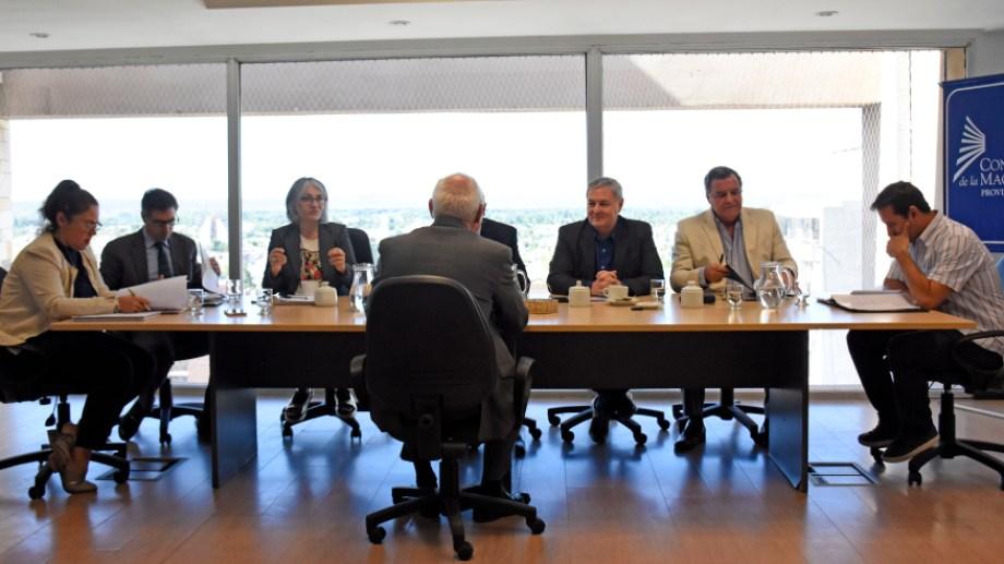 El Consejo de la Magistratura en pleno, durante una sesión antes de la pandemia. (Foto: Florencia Salto)