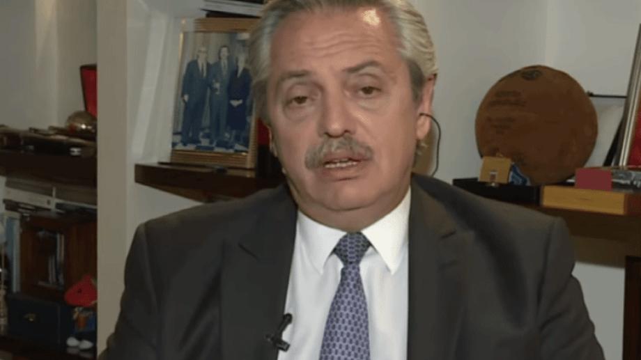 Alberto Fernández en la entrevista en C5N.