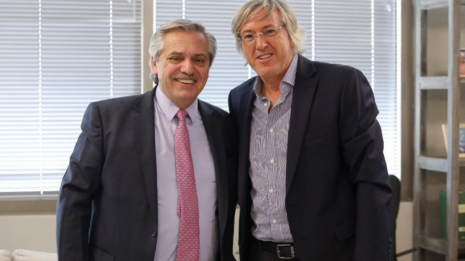 Alberto Fernández recibió a Alejandro Roemmers. Foto: Télam.