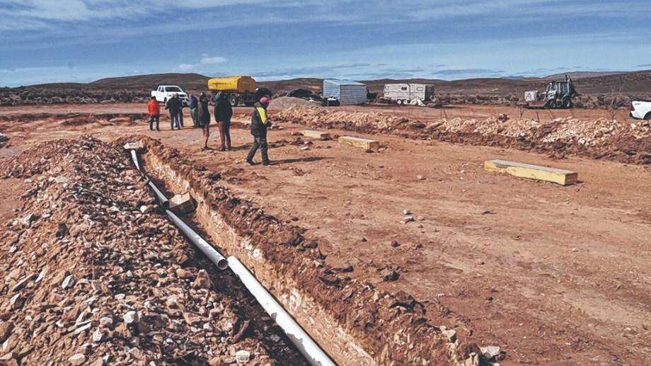 La minera Patagonia Gold construye un campamento en Lipetrén Chico, unos 80 kilómetros al sur de Jacobacci,. Archivo