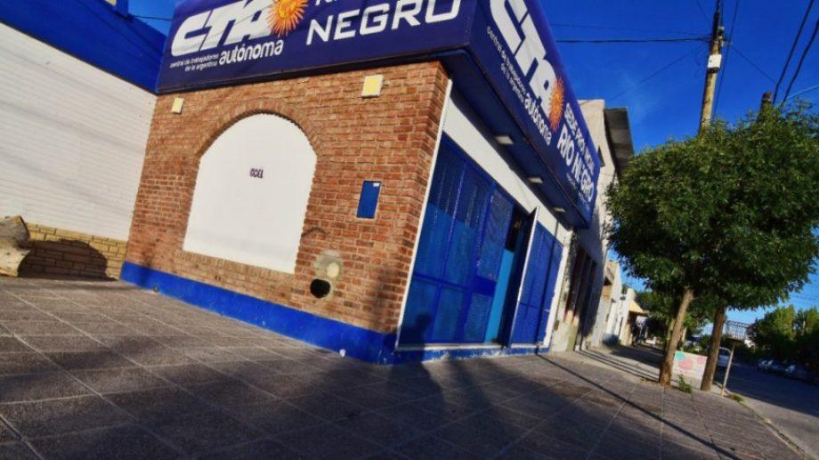 La sede de la CTA en Roca. Foto: archivo