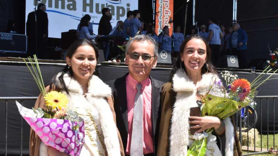El intendente de Dina Huapi, Danilo Rojas, brindó su último discurso. Foto: gentileza
