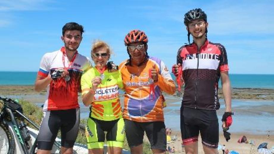 Los ganadores de la competencia ciclista Desafío Ruta 23. Gentileza