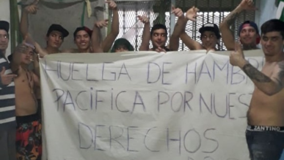 Presos del pabelló 2 II del Penal 3 de Bariloche mantienen una huelga de hambre. Gentileza