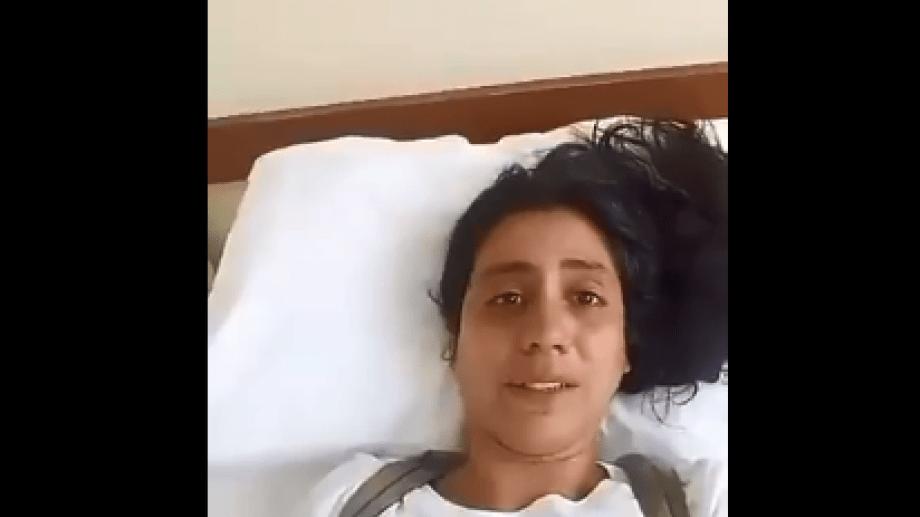 Nerea Jodor es argentina y está internada en Perú tras un accidente. Pide ayuda para ser trasladada al país. Foto: captura de pantalla.-