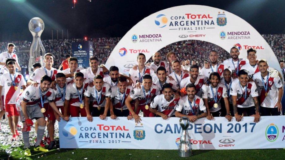 En 2017 River firmó el bicampeonato de Copa Argentina.