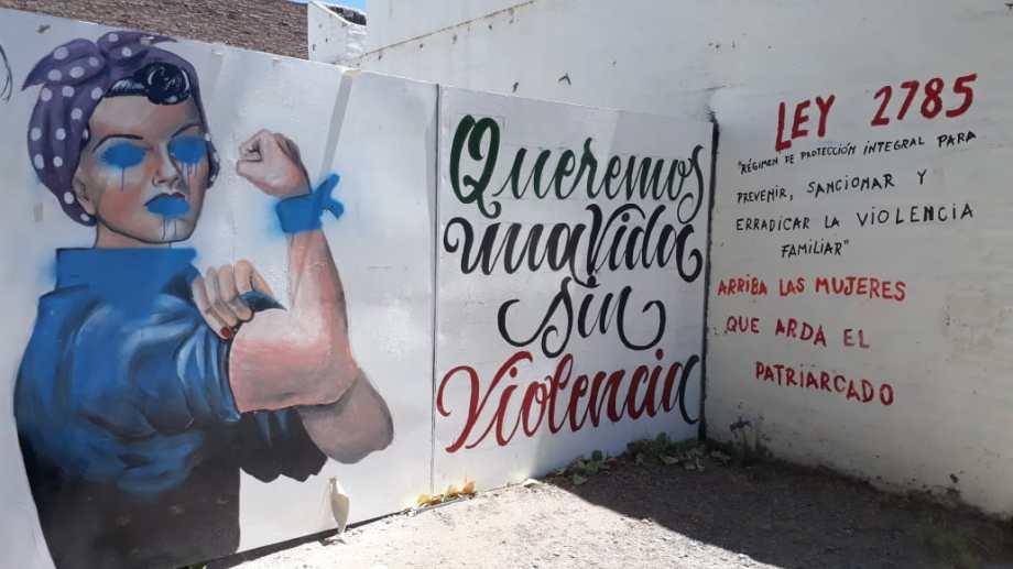 Por tercera vez consecutiva, atacaron el mural. (Foto: Gentileza.-)