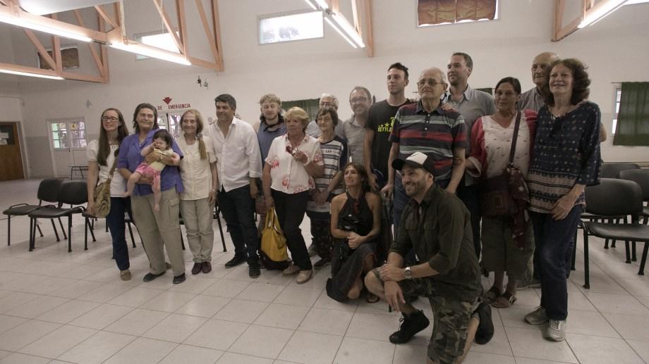 Familiares de Peter Hansen Kruuse estuvieron presentes en el acto. Fotos: Pablo Leguizamon