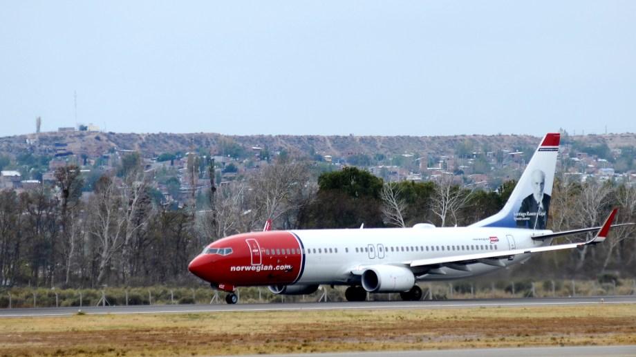 El hecho ocurrió durante un vuelo de la empresa Norwegian hacia Neuquén. (Foto: Archivo.-)