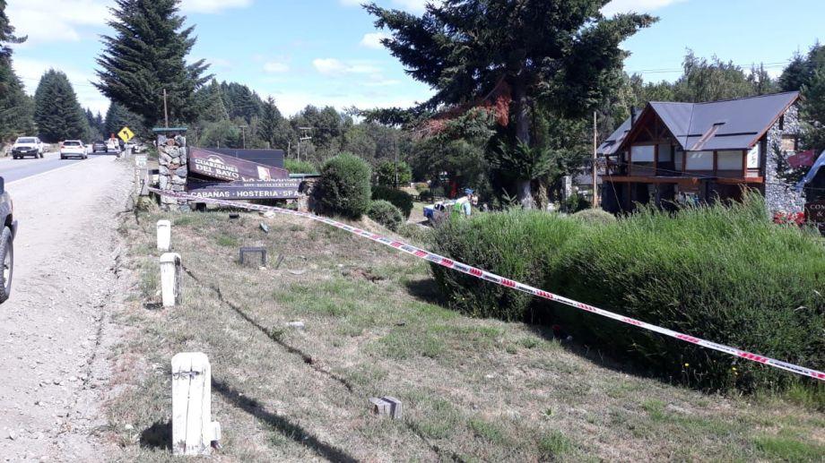 El lugar donde sucedió el accidente .Foto: diarioandino.com.ar