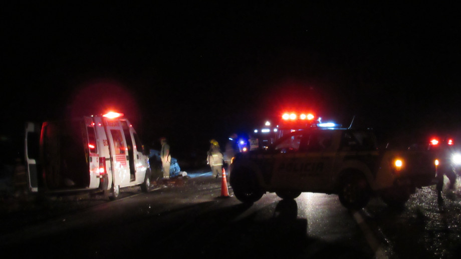 Cuatro personas murieron en el accidente de tránsito ocurrido sobre la Ruta 151. Foto: gentileza.-