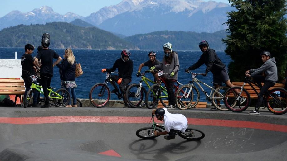Se disputó en Bariloche una fecha del Red Bull Pump Track World Challenge. Foto: Alfredo Leiva