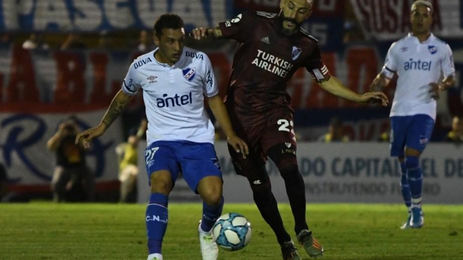 Nacho fernández convirtió el gol de River. Foto:  Twitter @RiverPlate