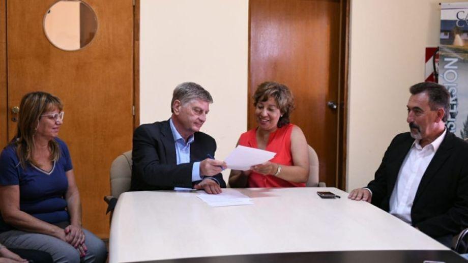 Carreras y Ziliotto se reunieron en Casa de Piedra. Foto: gentileza.-