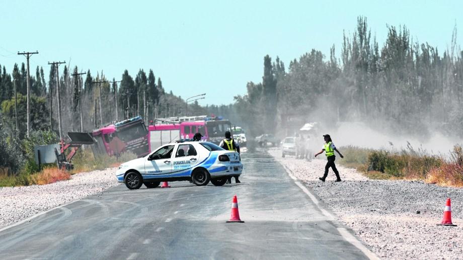El conductor del vehículo colisionó contra una camioneta. Foto: archivo.