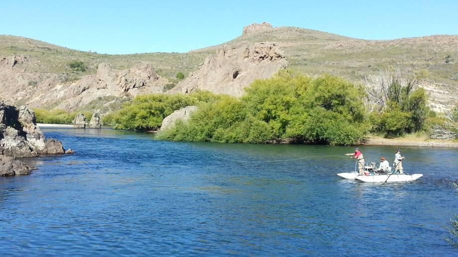 Recorren unos 14 kilómetros del río, que tiene 55 kilómetros de extensión. Foto: Fishinglife
