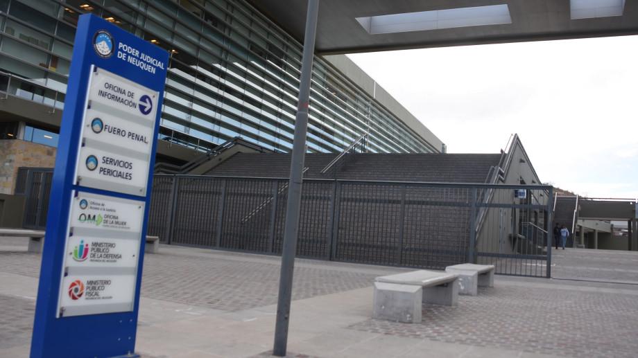 La Ciudad Judicial de Neuquén está desierta. Foto archivo.