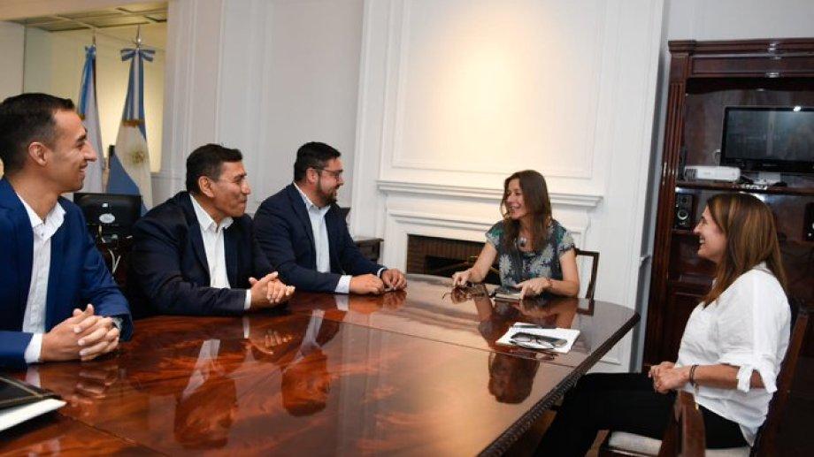 Al intendente lo acompañó el presidente del Concejo Deliberante, Jesús San Martín. Foto: gentileza.