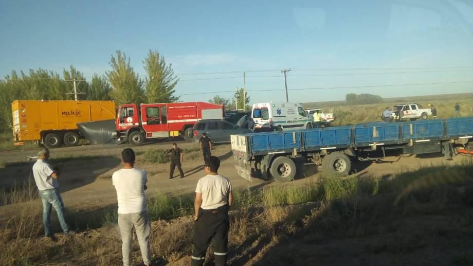 El choque fue entre San Patricio del Chañar y Añelo. (Foto: Twitter @BIENARG.-)