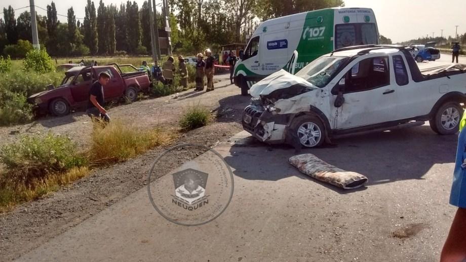 Los automóviles involucrados en el accidente.  Foto: Prensa Policía