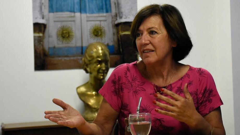 La senadora habló críticamente de los pasivos provinciales. Foto: archivo.
