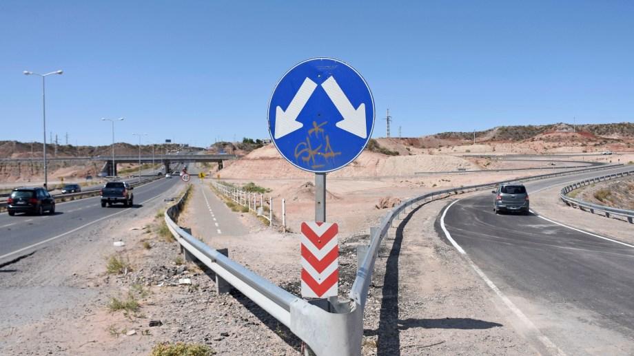 La obra emblemática de Nación en Neuquén son los rulos de la ruta 7. Florencia Salto