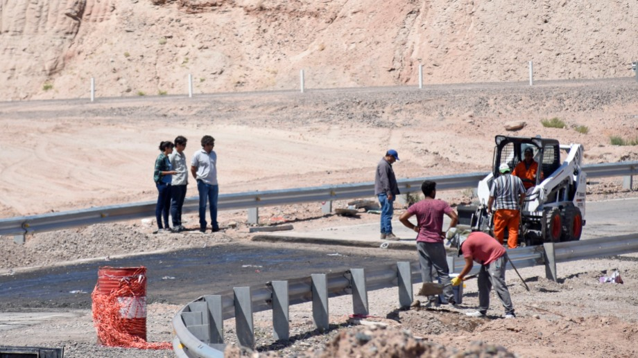 La obra de la rama que conecta con la Autovía Norte lo hizo la UTE de Luciano SA y CN Sapag, y se inauguró a fines de 2017. Foto: Florencia Salto