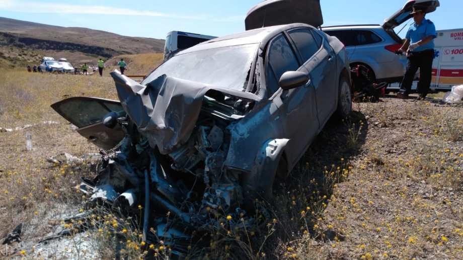 El choque ocurrió en la ruta nacional 237, a unos 80 kilómetros de Bariloche. (Foto: Gentileza)