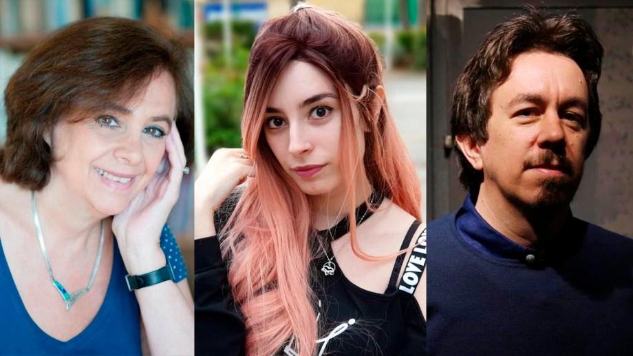 Ana María Shua, Lyna Vallejos y Pedro Mairal, tres de los autores que publicarán este año.