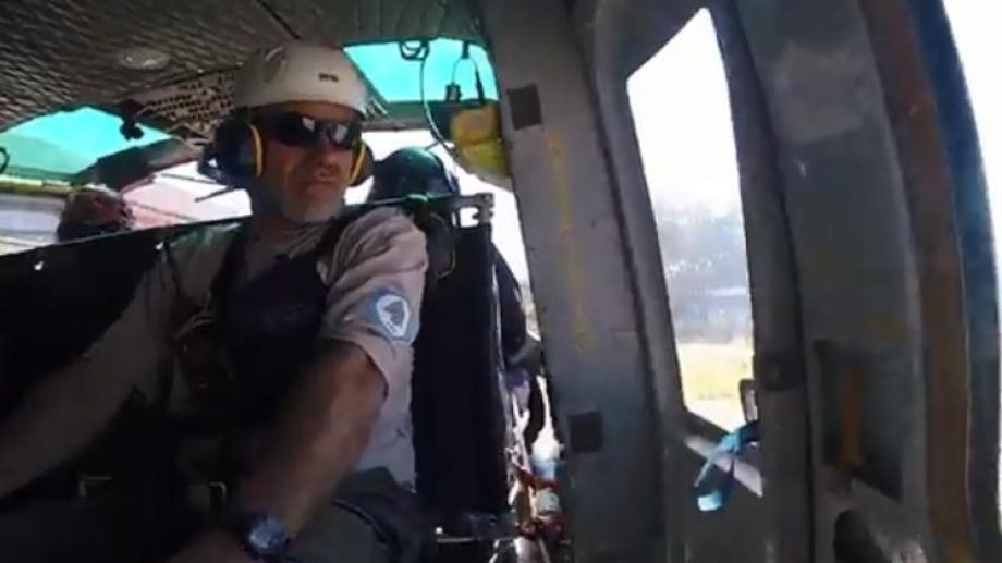 El ascenso al cerro toma cuatro horas. Por eso, el equipo de rescate se movilizó en helicóptero. Foto: archivo