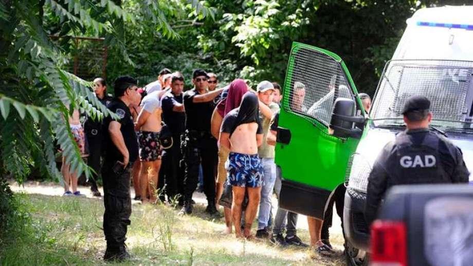 Así eran detenidos los rugbiers el último fin de semana. Foto: gentileza.-