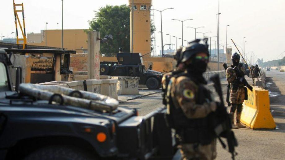 Volvió a ser atacada una base norteamericana en territorio iraquí. FOTO: CEDOC.-