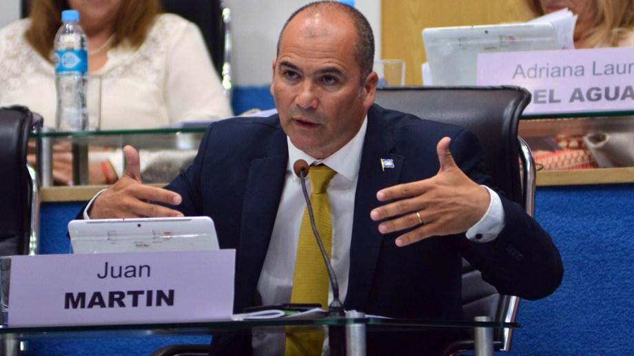 El legislador Juan Martin (Juntos por el Cambio), Foto: Marcelo Ochoa.