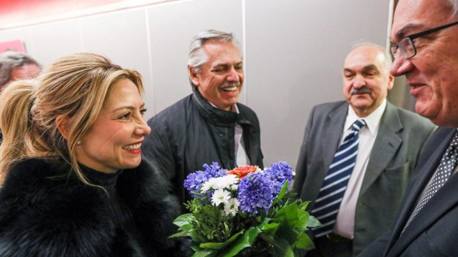 El presidente Alberto Fernández llegó hoy a la ciudad de Berlín. Foto: Presidencia/Telam