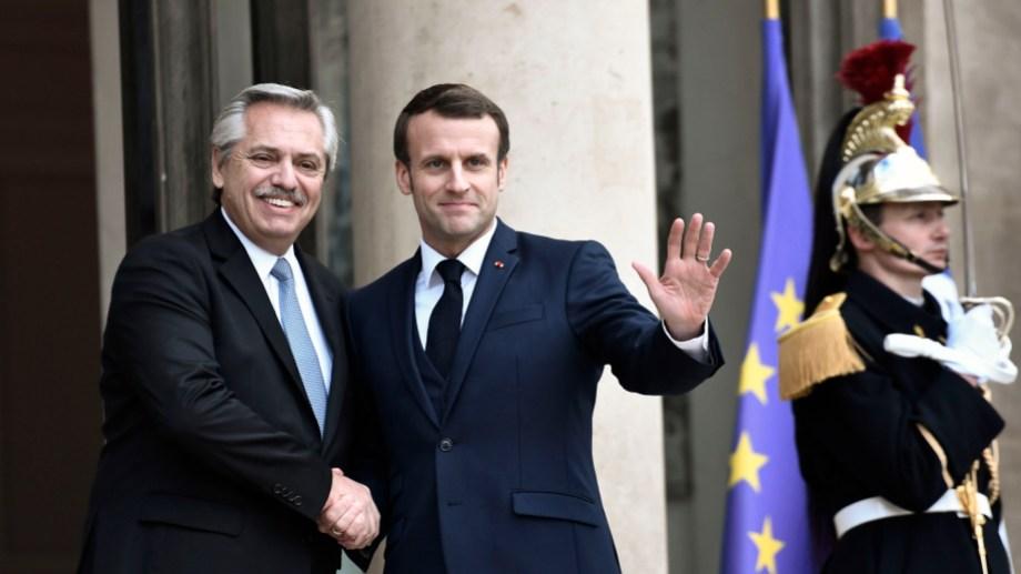Medios nacionales indicaron que Alberto Fernández y Emmanuel Macron establecieron una reunión a distancia. Foto archivo Télam.