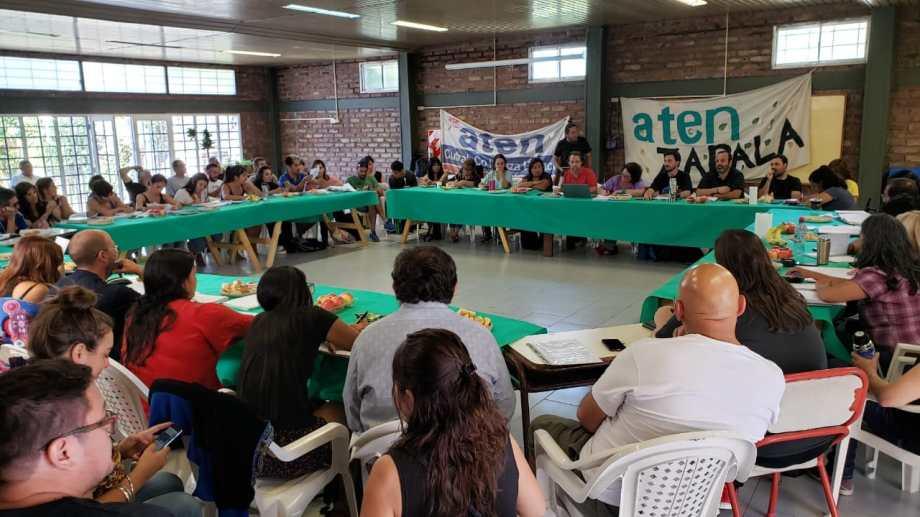 El plenario de secretarios generales de ATEN se realizó en Zapala. Foto gentileza.